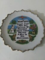 Vintage Indian Prayer Decorative Plate Wall Hanging