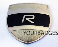 Enamel Chrome Black Volvo R Car Badge C30 C70 S60 Executive Shield