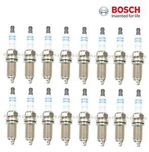 For Chryler Dodge Ram Jeep 5.7L V8 Set 16 Spark Plugs Bosch Double Iridium 9673