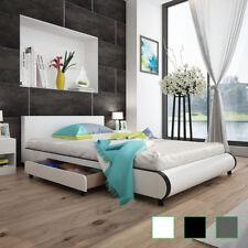vidaXL Cama Doble con 2 Cajones Cuero Artificial Varias Medidas/Colores Somier