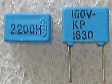 5 condensateurs 2200pF 2,2nF 100V 2,5% ERO KP1830