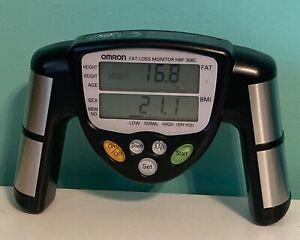 OMRON Handheld Body Fat Loss Monitor HBF-306C BMI Black Works Great Gym