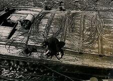 Ecluse de PORT VILLEZ c. 1950 - Péniches Cordages - DIV 3511