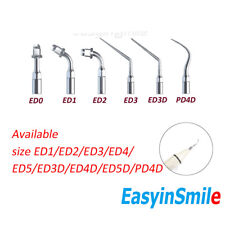 1pc Dental Ultrasonic Scaler Tip Piezo Stainless Steel Root Canal Fit Satelec