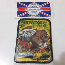 Vintage   PETER TOSH    Unused  80s PATCH   reggae bob marley