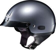 HJC IS-2 Motorcycle Half Helmet with Drop Down Sun Visor Anthracite XL