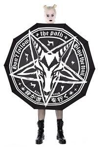 Killstar Gothic Okkult Regenschirm Sonnenschirm Schirm - Under My Spell Baphomet