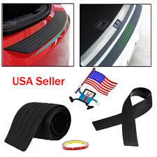 """35"""" Rear Guard Bumper Protector Trim Cover Sill Trunk Scuff Plate Rubber Black K"""