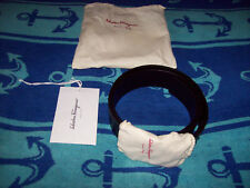 Salvatore Ferragamo Men's Belt 34  Black Calf Nero