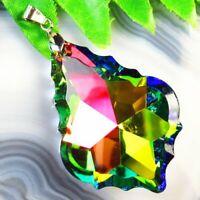 49x33x12mm Faceted Multicolor Titanium Crystal Arrow Pendant Bead