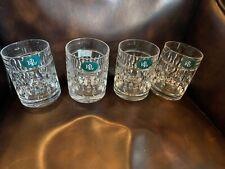 (4) Ralph Lauren GLEN PLAID Double Old Fashioned Glasses 11.8 oz.