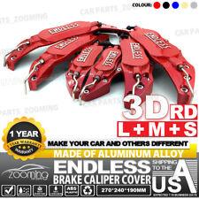 Metal 3D ENDLESS Universal Style Brake Caliper Cover 6pcs Red L+M+S LW04