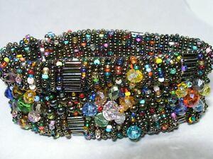 Stunning Multicolor Beaded Bracelet Fastens with Hidden Magnets