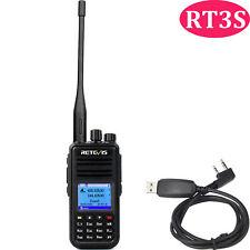 Retevis RT3S Walkie Talkie DMR UHF+VHF 3000 Kanal 2000mAh Funkgeräte mit USB DE