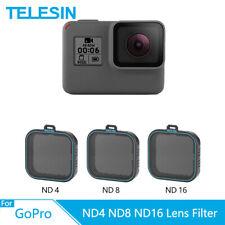 TELESIN 3 Pack ND4 ND8 ND16 Camera Lens Filter Set for Gopro Hero 7 6 5 Black