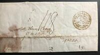 1826 Calcutta India Letter Cover Stampless Cover To London England