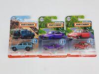 Matchbox Moving Parts Road Trip Pontiac Gran Prix Volkswagen Nissan Lot Series 1