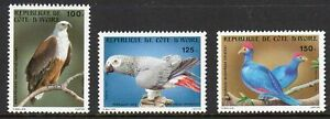 Birds - Ivory Coast 1983 set fine fresh MNH