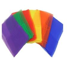 12pcs Women Hemmed Square Juggling Dance Gauze Scarves Candy Colors 6a