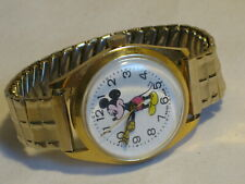 vintage Swiss Made Mickey Mouse wristwatch gold-tone watch Disney character wind