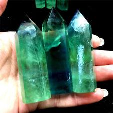 50-60mm 100% Natural Green Fluorite Quartz Crystal Point Healing Hexagonal Stone