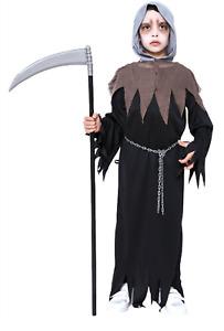 Childs Halloween Fancy Dress Grim Reaper Costume Boys Outfit Smiffys Book Week