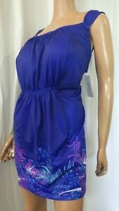 SWIMSUITS FOR ALL PLUS SZ 26W BLUE 2 PC SWIMDRESS BRA CUP SWIMSUIT NWT BUST 52