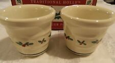 New in box 2 Longaberger Holly votive cups for candles or condiments