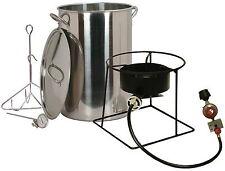 New King Kooker 30 Quart Turkey Fryer Stainless Steel Portable Outdoor Propane