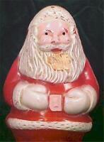 Vintage Santa Claus Christmas Decoration Figurine Hard Plastic 1950s #2