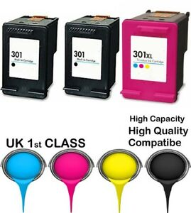 3 Compatible Ink Cartridge For HP 301 Envy 4500 4502 4504 4505 4507