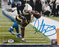Todd Gurley Signed 8x10 St. Louis Rams Photo - Goaline Stretch PSA/DNA COA