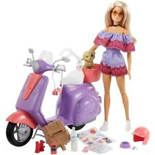 Barbie Pink Passport Scooter with Doll and Accessories BNIB SHIPS FAST