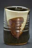 Studio Art Pottery Cup Tumbler signed by artist