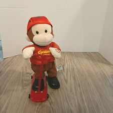 Collectable Classic Curious George Plush Toy on scooter moves