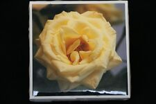 Ceramic Tile Coasters, Photo Tile Coasters, photos, homemade, yellow rose
