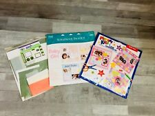 Scrapbook Page Kit Printed Paper Stickers photo Frames 12X12 Background Lot of 3