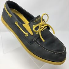 7f7746f3f6c Sperry Top-Sider Boys 6M - Leather Upper Navy And Gold Slip On Boat Non