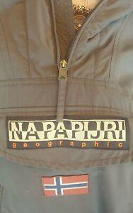 Napapijri Rainforest Winter Jacket Pullover Coat Dark Grey Size Mens Medium M