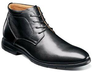 Florsheim Westside Plain Toe Chukka Boot Mens Leather Dress Shoes Black Size 9.5