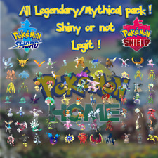 Pack COMPLET Légendaires Gen 1-7 Pokémon épée bouclier home - Shiny 6IV Niv.100