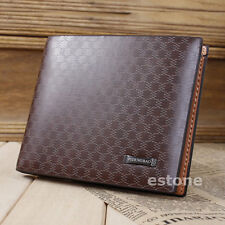 Stylish Men's Card ID Clutch Bifold Purse PU Leather New Wallet Pocket #MW