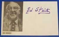 ED STEITZ HOF deceased 1990 signed autograph 3x5  w/photo