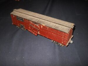 Early O Scale 40' Denver & Salt Lake Wooden Stock Car