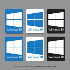 6 x Windows 10 Sticker Decal PC Laptop Notebook - 22mm x 16mm - SKU2694