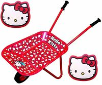 Hello Kitty Children's Wheel Barrow And Hello Kitty Gardening Kneeling Mats