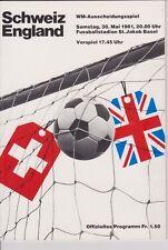 SWITZERLAND v ENGLAND 1981 WORLD CUP QUALIFYING MATCH IN BASLE