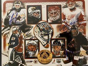 Patrick Roy Ed Belfour Chris Osgood Nikolai Khabibulin Signed 8x10 Photo NHL