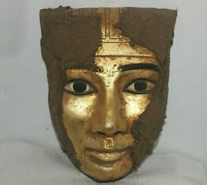 RARE ANCIENT EGYPTIAN ANTIQUE Mummy Mask Statue Stone 2562-2451 BC