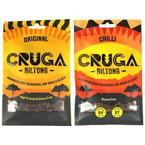 Cruga Beef Biltong 35g All Flavours Mixed Packs Gluten Free High Protein Snack